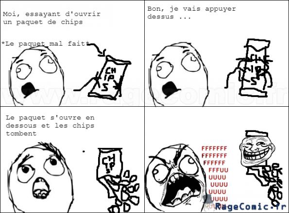 Troll Du Paquet De Chips