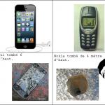 Iphone et nokia