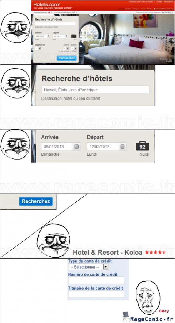 Réservation d'hôtels