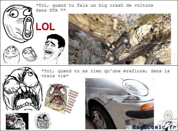 Les voitures de la vie et les voitures de GTA V