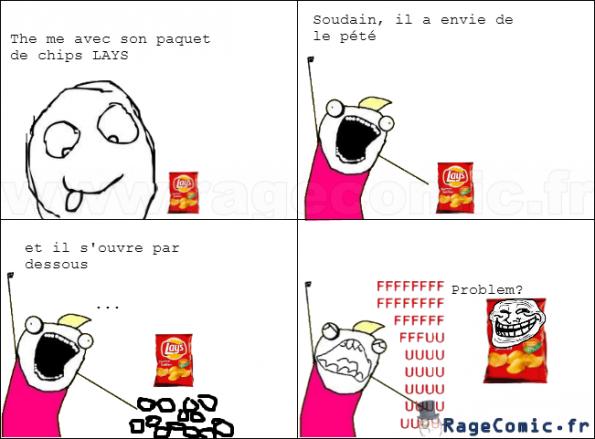Comment ouvrir un paquet de chips lays