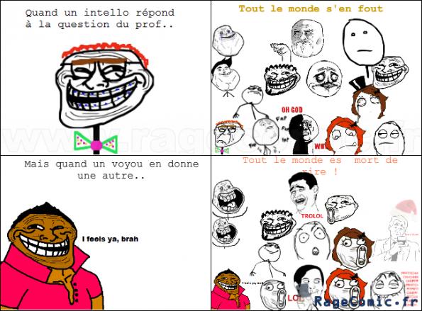 L'esprit de classe (premier rage comics)