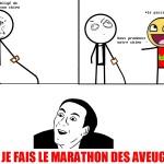 Le marathon des aveugles..