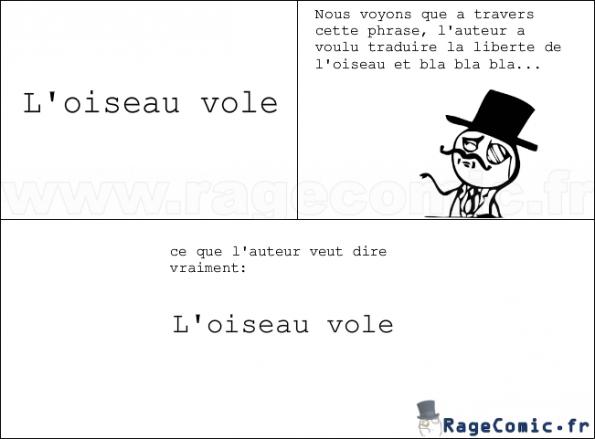les profs de français en rajoute toujours