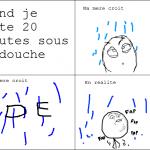 Sous la douche..