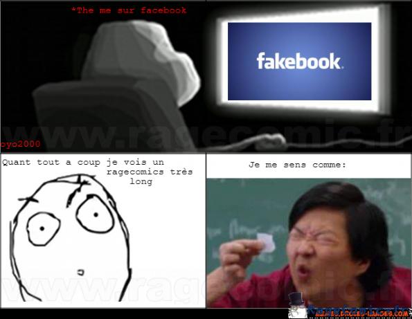 Rage comic sur facebook