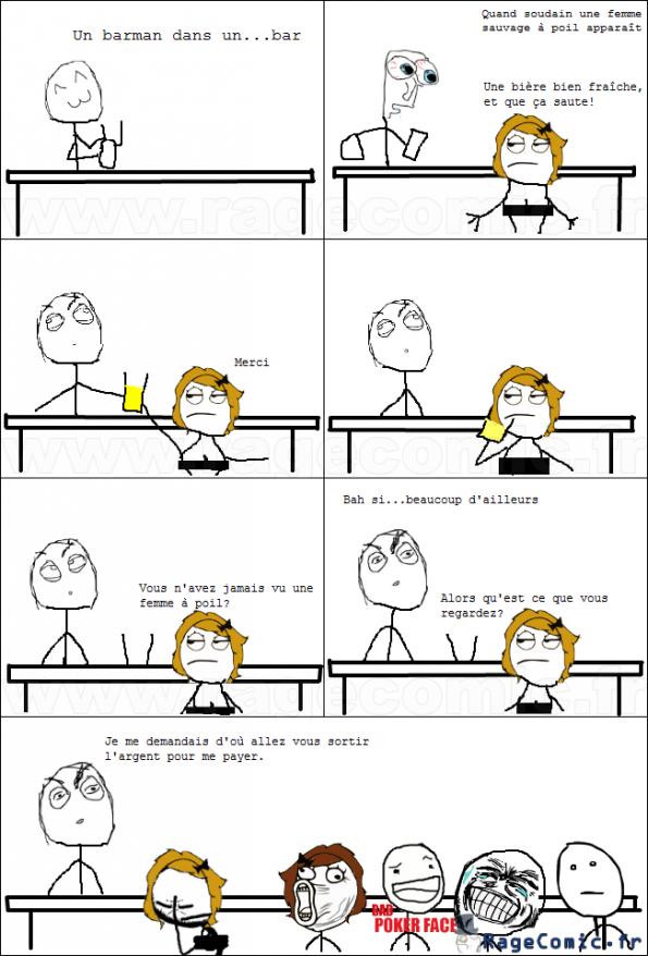 Une femme à poil dans un bar