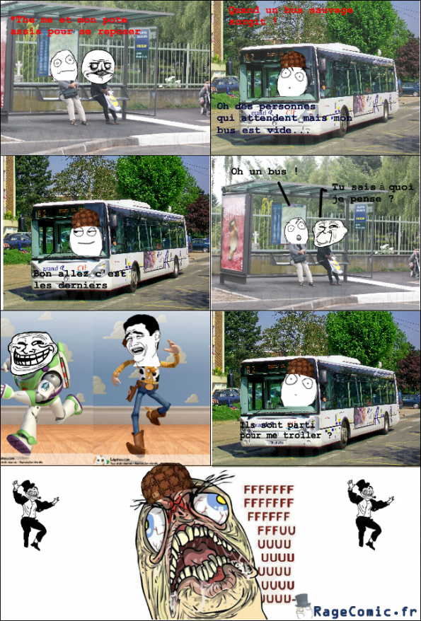Chauffeur de bus rageur