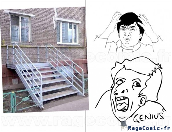 escalier genius