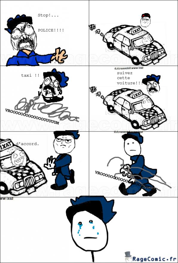 La police et le taxi
