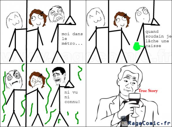 pet dans métro