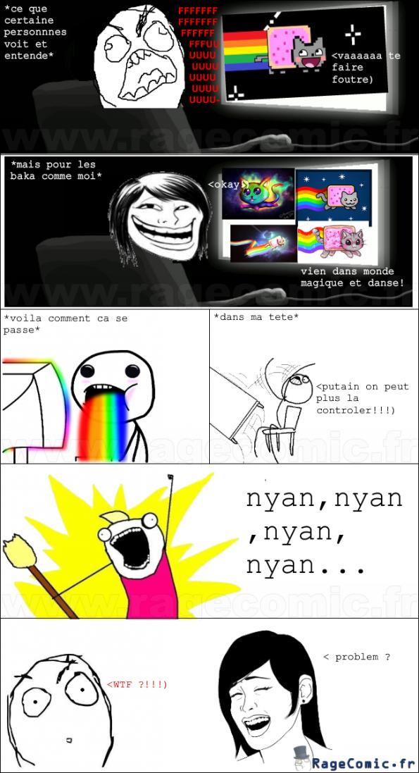 les réactions pour nyan cat