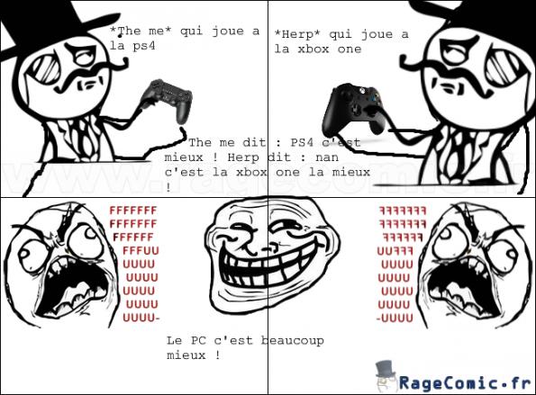 PS4 ,XBOX ONE et le trolleur PC