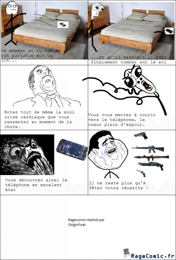 Quand tu jettes ton téléphone sur ton lit