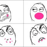Quand tu mange un chewing gum