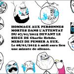 Hommage aux personnes mortes dans l'attentat Charlie Hebdo