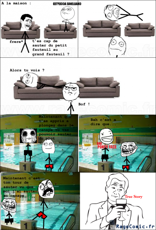 A la maison et a la piscine