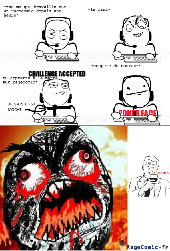 coupure de courant rage guy fffffuuuuuuuu rage comics francais troll face. Black Bedroom Furniture Sets. Home Design Ideas