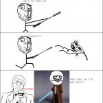 le sabre laser...