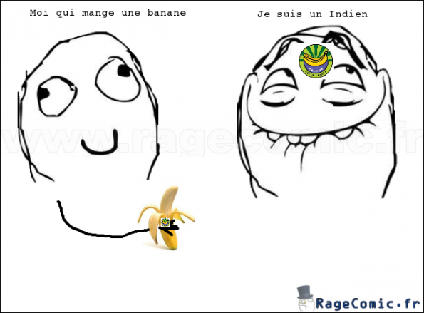 Étiquette de banane + moi = ...