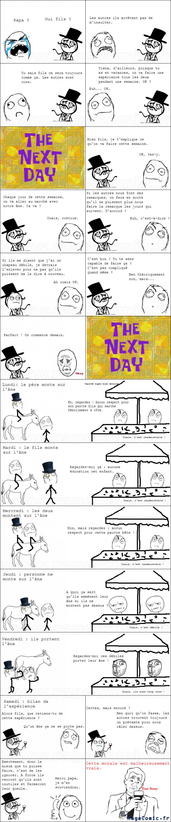 La morale de la vie