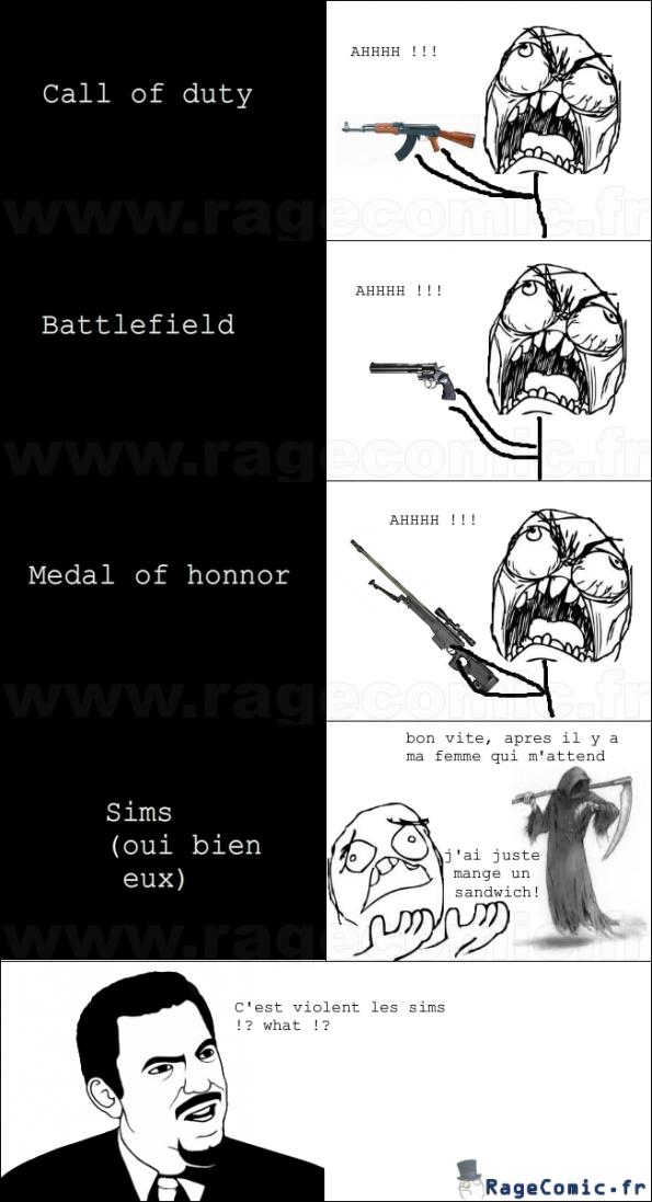 la violence des jeux