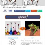 Plutôt Physique/Chimie ou SVT ?