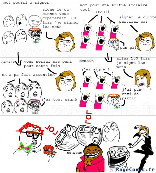 logique de sortie