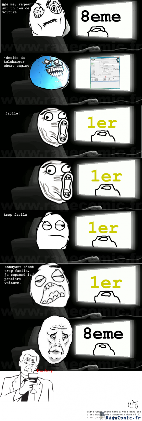 quand je joue un jeu de voiture okay guy rage comics francais troll face. Black Bedroom Furniture Sets. Home Design Ideas
