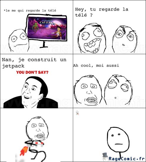 Tu regarde la télé..?