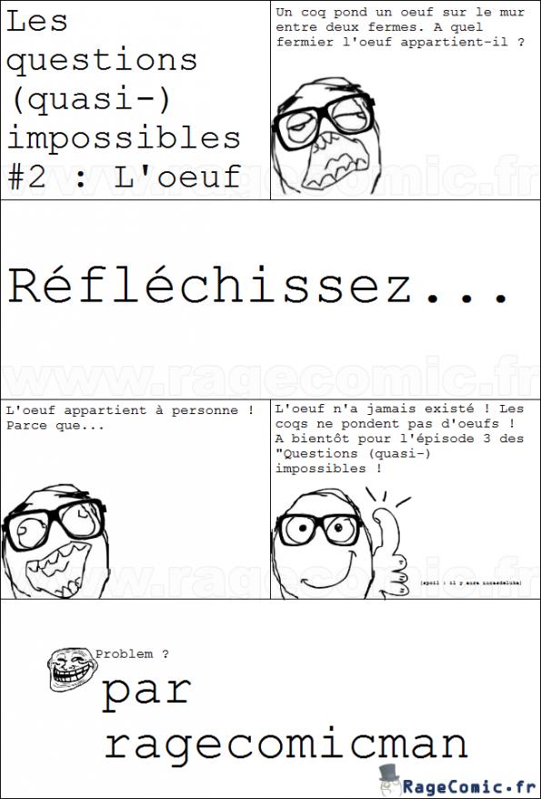 Les questions (quasi-) impossibles #2 : L'oeuf