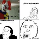 Un clown et un imbécile