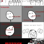 Dick face