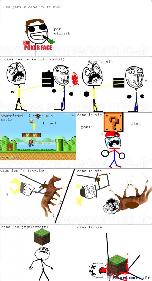 les jeux vidéo vs la vie