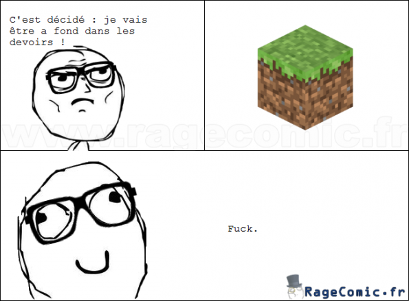 Minecraft VS les devoirs
