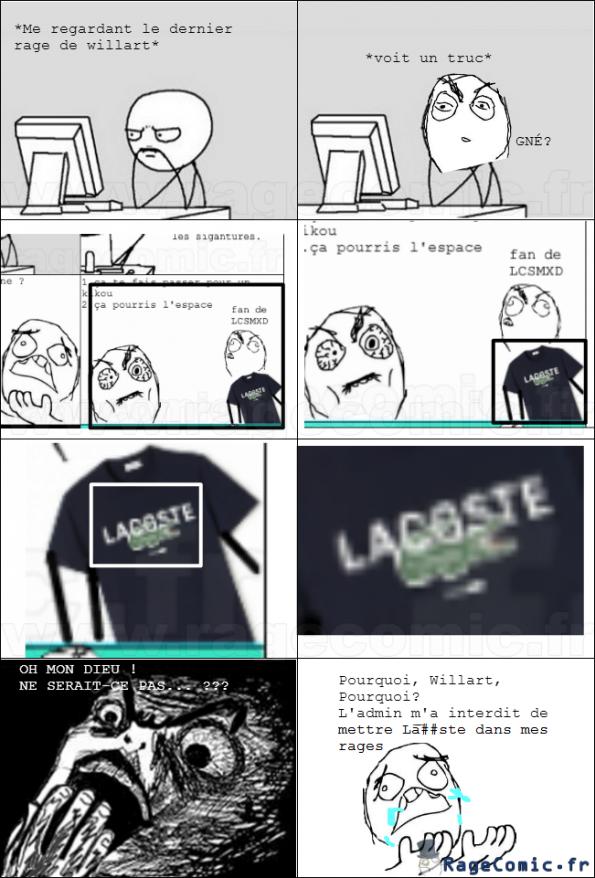 Lacoste doit DÉGAGER de ragecomic.fr