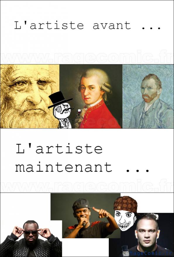 Les artistes .