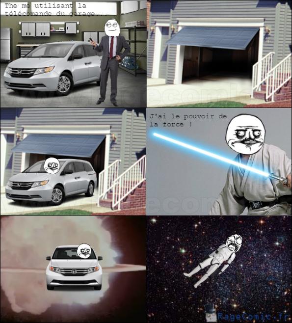La télécommande du garage