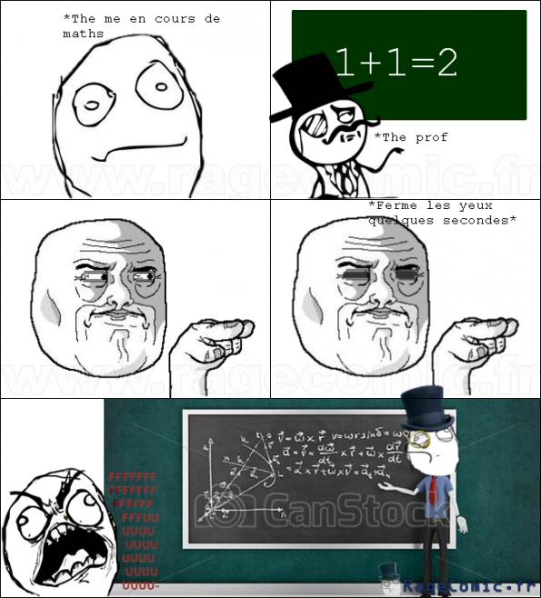 Moi en cours de math