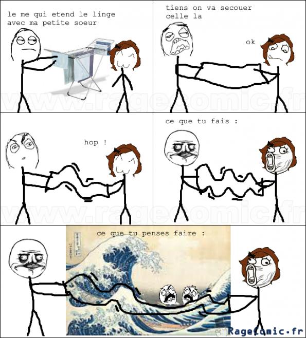 secouer une serviette