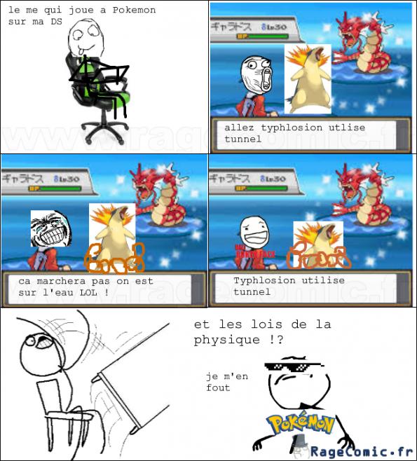 pokemon et les lois de la physique