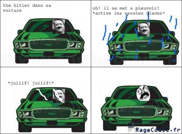 hitler et sa voiture...