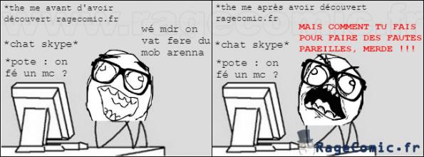 Avant/Après avoir découvert ragecomic.fr