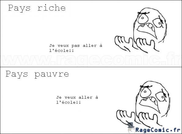 école pays riche vs pays pauvre