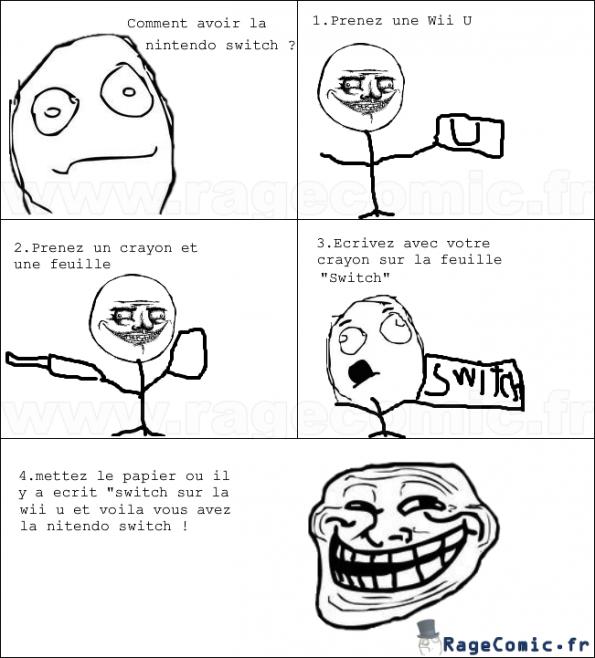 Comment avoir la nintendo switch ?