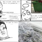 Quand je jette mon RIB à la poubelle