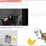 je deteste quand un velociraptor me lance dess banane quand j etudie