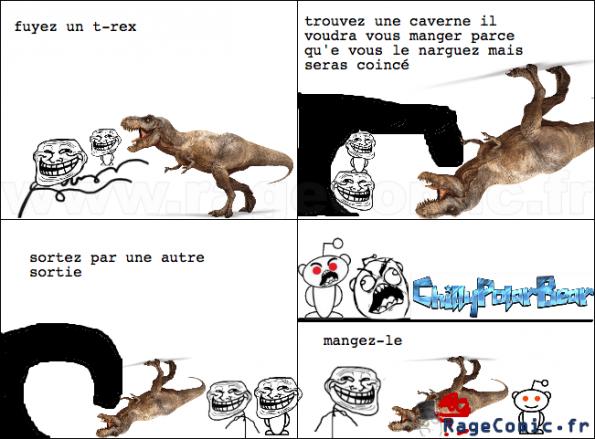 troller un t-rex
