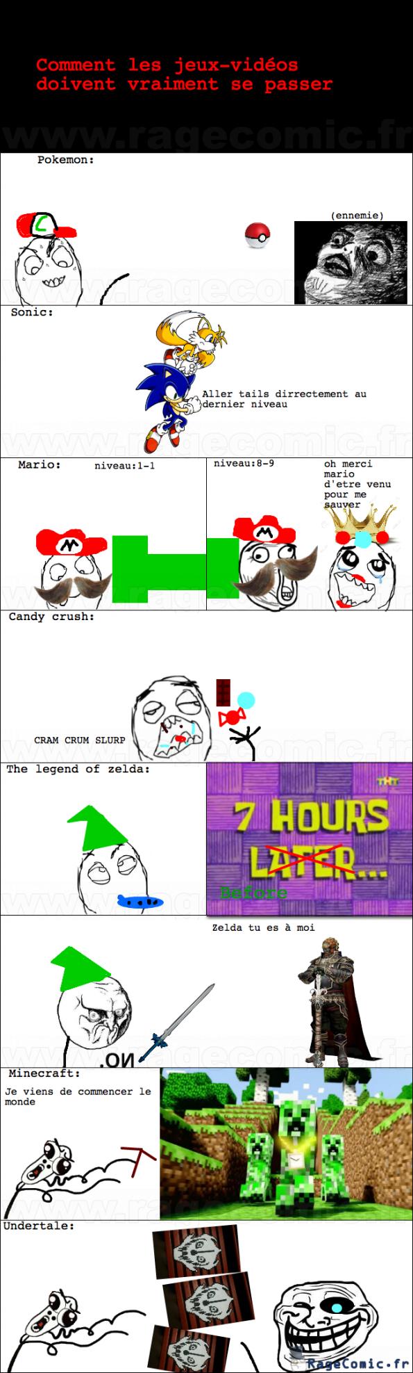Comment les jeux-vidéos doivent vraiment se passer