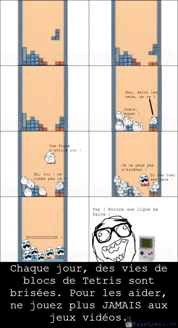 La vie des blocs de Tetris
